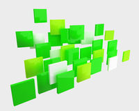 Abstracte groene geïsoleerdez vierkanten Royalty-vrije Stock Afbeelding