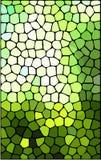 Abstracte groene gebrandschilderd glasachtergrond Stock Afbeelding