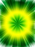 Abstracte groene gele achtergrond Stock Afbeelding
