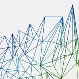 Abstracte groene geometrische de lijnenachtergrond van eind blauwe techno, royalty-vrije illustratie
