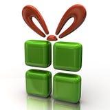 Abstracte groene gift royalty-vrije illustratie