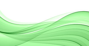 Abstracte groene golf Royalty-vrije Stock Fotografie