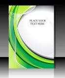 Abstracte groene golf flayer Royalty-vrije Stock Afbeeldingen