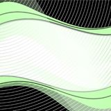 Abstracte groene golven met schaduwen en cirkels royalty-vrije illustratie