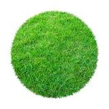 Abstracte groene grastextuur voor achtergrond Patroon van het cirkel het groene gras dat op witte achtergrond met het knippen van stock fotografie