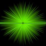 Abstracte groene kosmische achtergrond Stock Afbeeldingen