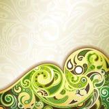 Abstracte Groene Kromme Royalty-vrije Stock Afbeelding