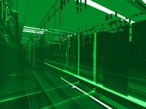 Abstracte groene matrijsachtergrond vector illustratie
