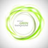 Abstracte groene ringen royalty-vrije illustratie