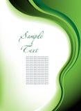 Abstracte groene vectorachtergrond Stock Afbeeldingen