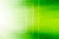 Abstracte groene vierkante technologie-achtergrond Royalty-vrije Stock Afbeelding