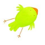 Abstracte groene vogel Stock Afbeeldingen
