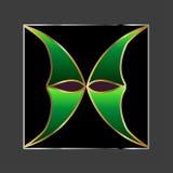 Abstracte groene vorm Royalty-vrije Stock Afbeeldingen