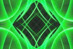 Abstracte groene vormen Stock Foto's