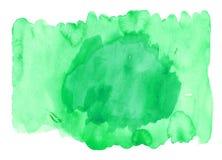 Abstracte groene waterverfachtergrond Stock Afbeeldingen