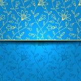 Abstracte groetkaart, achtergrond met bloemen Stock Afbeelding