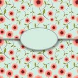 Abstracte groetkaart met bloemen Stock Afbeelding