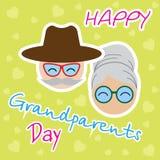 Abstracte grootoudersdag royalty-vrije illustratie