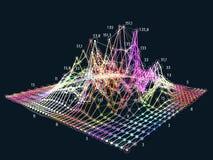 Abstracte grote gegevens 3D visualisatie financiële informatie compl Royalty-vrije Stock Afbeeldingen
