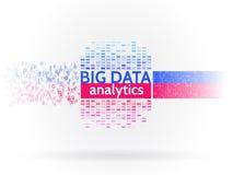 Abstracte grote gegevens sorterende informatie Analyse van informatie Voor het exploiteren van gegevens stock illustratie