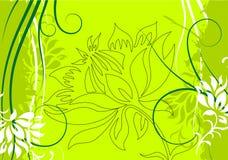 Abstracte grunge bloemen decoratieve vectorillustratie als achtergrond