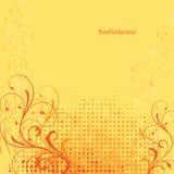 Abstracte grunge bloemenachtergrond Royalty-vrije Stock Afbeelding