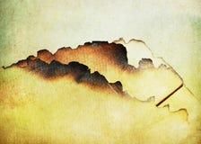 Abstracte grunge gebrande document achtergrond Stock Afbeelding