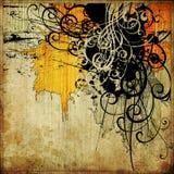 Abstracte grunge grafische achtergrond van de kunst stock illustratie