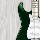 Abstracte grunge houten achtergrond met elektrische gitaar Stock Afbeeldingen
