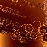 Abstracte grunge muzikale achtergrond. Vector Royalty-vrije Stock Fotografie