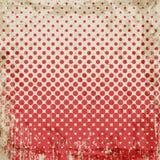 Abstracte grunge uitstekende achtergrond van rode punten Gelijk dalingsgrootte van cirkels Stock Foto's