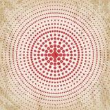 Abstracte grunge uitstekende achtergrond van rode punten Gelijk dalingsgrootte van cirkels Royalty-vrije Stock Afbeelding