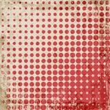 Abstracte grunge uitstekende achtergrond van rode punten Gelijk dalingsgrootte van cirkels Royalty-vrije Stock Foto's