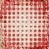 Abstracte grunge uitstekende achtergrond van rode punten Gelijk dalingsgrootte van cirkels Stock Foto
