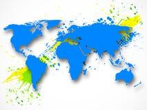 Abstracte grungeachtergrond met kaart Stock Afbeeldingen