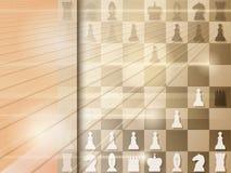 Abstracte grungeachtergrond met schaakbord checkmate Vector royalty-vrije illustratie