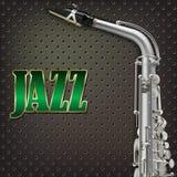 Abstracte grungesaxofoon als achtergrond en muzikale instrumenten Royalty-vrije Stock Afbeelding