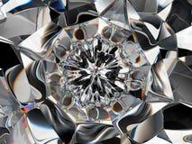 Abstracte Halfedelsteen of diamanttextuurclose-up en caleidoscoop royalty-vrije stock afbeeldingen