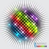 Abstracte halftone achtergrond met regenboogkruis Royalty-vrije Stock Afbeeldingen