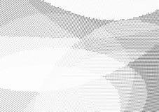 Abstracte halftone achtergrond met silhouetten stock illustratie