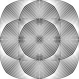 Abstracte halftone lijnen geometrische achtergrond Stock Fotografie