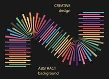 Abstracte halftone lijnen kleurrijke achtergrond Stock Fotografie