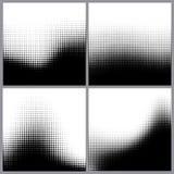 Abstracte halftone punten voor grungeachtergrond Stock Afbeelding