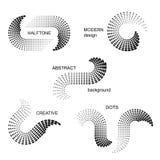 Abstracte halftone puntenachtergronden Stock Foto