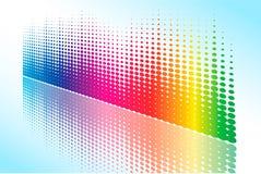 Abstracte Halftone regenbooggolf Vector Illustratie