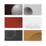 Abstracte halftone vectoradreskaartjeachtergrond  Royalty-vrije Stock Afbeeldingen