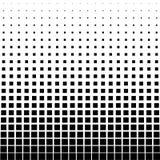 Abstracte halftone Zwart vierkant op een witte achtergrond Stock Foto