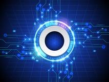 Abstracte hallo de technologie blauwe achtergrond van snelheidsinternet Royalty-vrije Stock Afbeeldingen