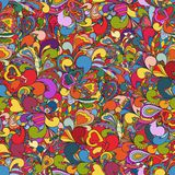 abstracte hand-drawn achtergrond Stock Afbeeldingen