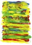 Abstracte hand geschilderde waterverf Royalty-vrije Stock Afbeeldingen